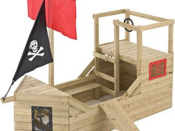 MOOKIE TP Toys - cabane bateau pirate galleon en bois - Maison De Jardin Enfant