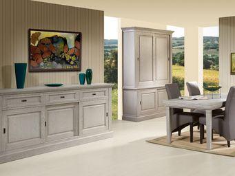 WHITE LABEL - salle à manger complète - berty - l 180 x l 95 x h - Salle À Manger