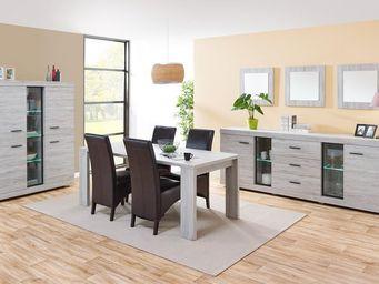 WHITE LABEL - salle à manger complète - rejy - l 160 x l 88 x h - Salle À Manger