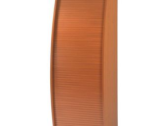 WHITE LABEL - colonne informatique à rideau merisier taille m - - Armoire De Bureau