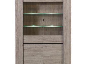 WHITE LABEL - vaisselier - cimo - l 124 x l 48 x h 170 - bois - Vaisselier