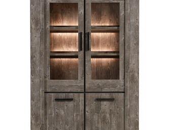 WHITE LABEL - vaisselier 2 portes - robinson - l 136 x l 50 x h - Vaisselier