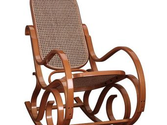 WHITE LABEL - rocking chair teinte miel - country - l 53,5 x l 9 - Rocking Chair