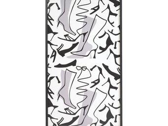WHITE LABEL - meuble à chaussures à rideau noir - shoes n°2 - l - Meuble À Chaussures