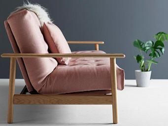 WHITE LABEL - innovation living canapé lit design balder rouge c - Banquette Clic Clac