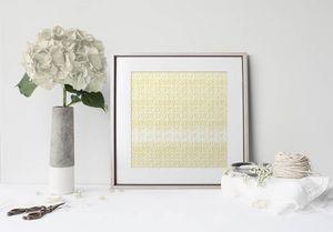 la Magie dans l'Image - print art anis jaune blanc - Estampe