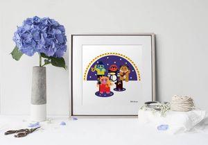 la Magie dans l'Image - print art héros muppet - Estampe