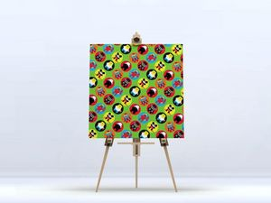 la Magie dans l'Image - toile héros pattern vert petit - Impression Numérique Sur Toile