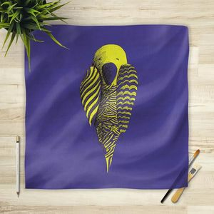 la Magie dans l'Image - foulard perroquet bleu - Foulard Carré