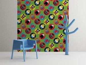 la Magie dans l'Image - grande fresque murale heros pattern vert petit - Papier Peint Panoramique