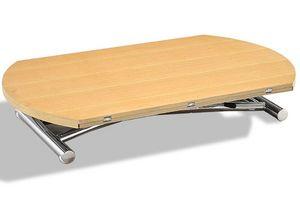 WHITE LABEL - table basse ronde relevable et extensible planet c - Table Basse Relevable