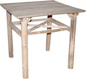 ZAGO - table à manger en teck refuge - Table De Repas Carrée