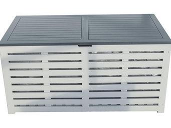 City Green - coffre banc de jardin + housse burano - 121 x 63 x - Banc Coffre De Jardin