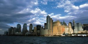 Nouvelles Images - affiche downtown manhattan vu du jersey ferry - Affiche