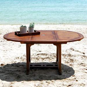 BOIS DESSUS BOIS DESSOUS - table de jardin en bois de teck huilé 6/8 places - Table De Jardin À Rallonges