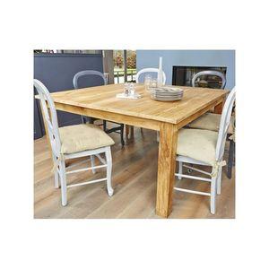 BOIS DESSUS BOIS DESSOUS - table en bois de teck carrée 140 boston - Table De Repas Carrée