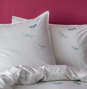 BLANC CERISE - libellules - Taie D'oreiller D'enfant