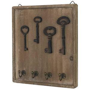 CHEMIN DE CAMPAGNE - porte clés clefs mural en bois boîte à clé clef - Armoire À Clefs