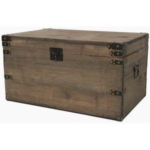 CHEMIN DE CAMPAGNE - coffre de style ancien vieille malle en bois 54 cm - Malle