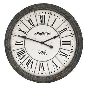 CHEMIN DE CAMPAGNE - grande horloge en zinc style campagne industriel 1 - Horloge Murale