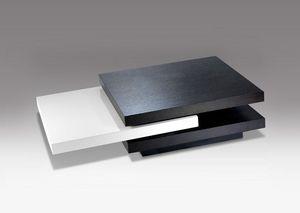 Marais International - ébène et blanc - Table Basse Rectangulaire