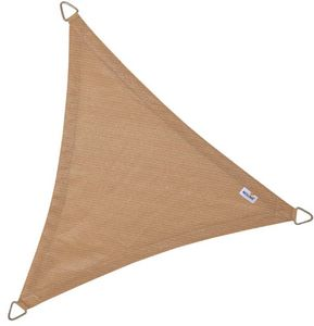 jardindeco - voile d'ombrage triangulaire coolfit sable - Voile D'ombrage