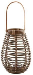 Aubry-Gaspard - lanterne en rotin et verre taille 2 - Lanterne D'extérieur