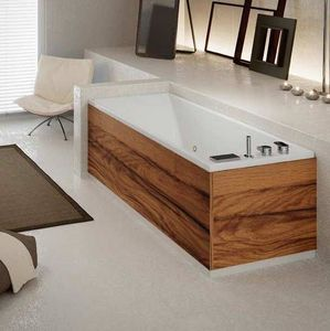 Grandform - bain slim edge air 170x70 hydromassage - blanc: poli - vers: gauche - taps: avec - Baignoire Balnéo
