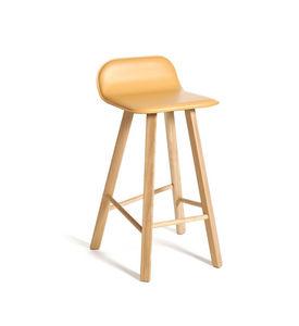 COLE - tria stool low back upholstered - Chaise Haute De Bar