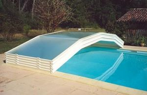 Abri-Integral - evolution - Abri De Piscine Bas Coulissant Ou T�lescopique