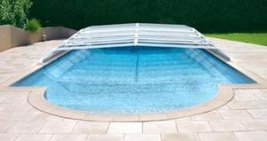 EASY COVER -  - Abri De Piscine Bas Coulissant Ou Télescopique