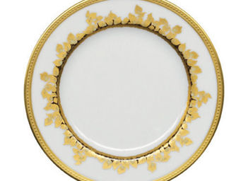 Haviland - feuille d'or - Assiette Plate