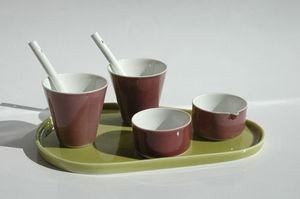 Porcelaines Isabelle Dubois - set expresso - Service Petit D�jeuner