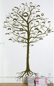 Domestic - arbre à moustaches - Sticker