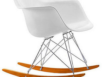 ARTDECO - rar armchair inspired by charles ray eames 1950 - Rocking Chair