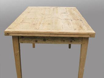 Lawrens - table sur mesure en parquet ancien - Table À Rallonge