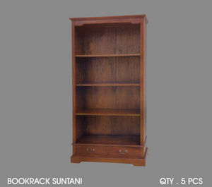 DECO PRIVE - biblioth�que en acajou suntani - Etag�re