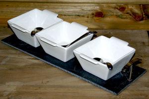 DECO-BOIS.COM - coffret loona ardoises 3 coupes carrées - Porte Tasses