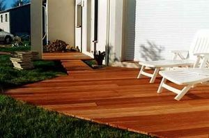 Interwood France - jardin - Plancher De Terrasse