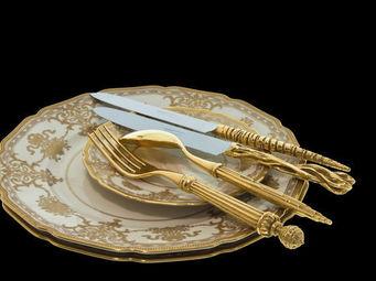 LAURET STUDIO - plaqué or - Couverts De Table