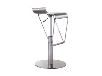 ACHATDESIGN.COM - Tabouret Bar Brush Acier - Chaise Haute De Bar