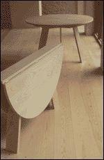 Robert Kilvington - round folding table - Table À Abattant