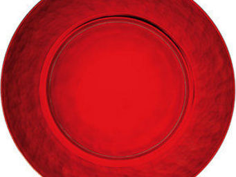 BORMIOLI ROCCO - palatina plat rond 31 rouge - Plat Rond