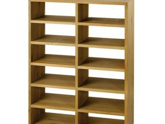MEUBLES ZAGO - rangement chêne 12 niches, tiroirs en option côme - Etagère