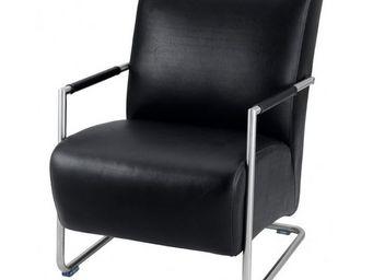 MEUBLES ZAGO - fauteuil hakone noir - Fauteuil Bas