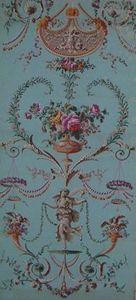 Carolle Thibaut-Pomerantz - panneau de papier peint � rinceaux - Papier Peint