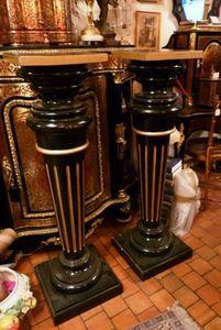 Art & Antiques - paire de colonnes ou gaines napoléon iii - Gaine