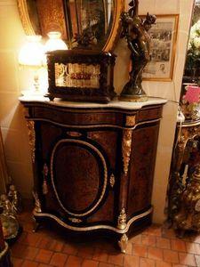 Art & Antiques - meuble d'appui 1 porte écaille rouge toutes faces - Meuble D'entre Deux À Hauteur D'appui