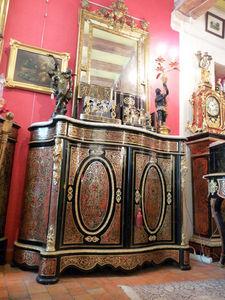 Art & Antiques - meuble d'appui galbé napoléoniii boulle 2 portes - Meuble D'entre Deux À Hauteur D'appui