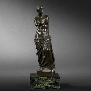 Expertissim - v�nus de milo. bronze � patine brune - Sculpture